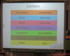 Great ideas for creating self-selected centers for the elementary library.