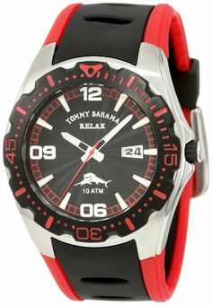 Tommy Bahama RELAX Men's RLX1146 Beach Comber Black & Red Luminous Hands Date Watch Tommy Bahama. $72.96. Save 23% Off!
