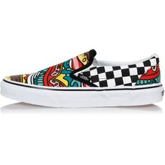 039f83bfab7 Vans Sneakers Slip On CLASSIC BURGER CHECK ( 53) ❤ liked on Polyvore  featuring shoes