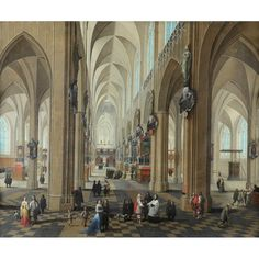 Pieter Neefs the Elder (Flemish of Antwerp Cathedral Estimate: Old Masters, British & European Paintings auction on March Blackadder, European Paintings, Old Master, Antwerp, Oil On Canvas, 4th March, Cathedral, Old Things, Auction