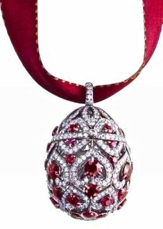 Faberge Egg Ruby Pendant