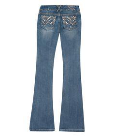 Look at this #zulilyfind! Amethyst Jeans Light Blue Aubrey Regular Flare Jeans by Amethyst Jeans #zulilyfinds