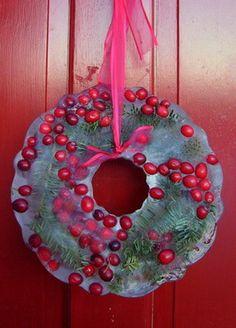 Ice wreath. So beautiful!