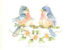 In My Heart There is a Melody 6 x 7.5 original watercolor  | CShoresInc - Painting on ArtFire