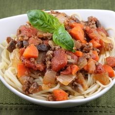 Weight Watchers Spaghetti Bolognese