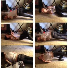 If a T-Rex fell over. Performed by Andy Biersack. LOL! (The video is on Juliet's vine.)