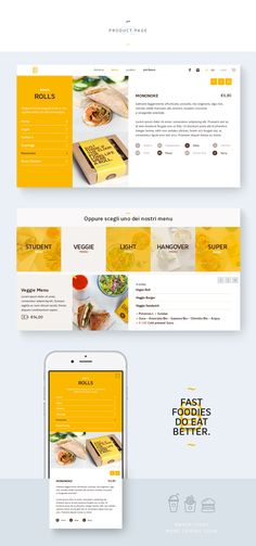 Banco Fast Food first website proposal.