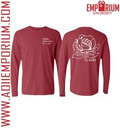 Start thinking about Valentine's Day with the Cardinal Rose Long Sleeve--a Comfort Colors dream!