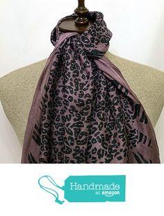 Scarf purple and black dotted - SC323 from Nazo Design… #handmadeatamazon #nazodesign
