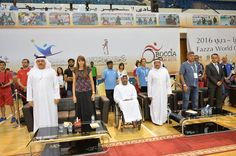 The Grand Closing Ceremony of Fazza World Open Boccia Competition 2016 on 23rd May: Mr. Yasser Moussa- Executive Assistant Manager with His Excellency – Mohammad Julfar – Vice Chairman of the Local Organizing Committee for Fazza International Championships for Disabled and other dignitaries at the event.   #fazza2016 #mydubai #sports #fitness     We extend our warm wishes to Dubai Club for the Disabled on the success of the event.