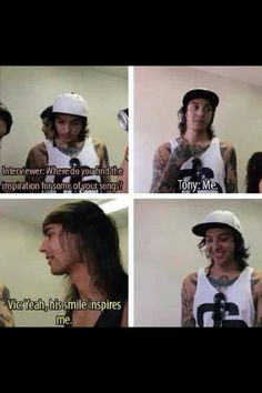 Lol, the turtle has the most adorable smile, of course it inspires Vic ;)