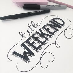 Working on the next tutorial :) #hello #weekend #type #typestuff #typography #typographyinspired #lettering #handlettering #happy #youtube #comingsoon #calligraphy #script #swirls #quickie #goodtype #dailytype #vscocam
