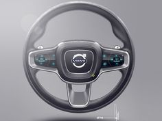 Volvo concept coupe steering wheel sketch