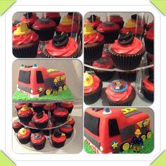 Fireman Sam cake & cupcakes #fireman #sam #episodes Birthday Cupcakes, Boy Birthday, Fireman Sam Cake, Cake Creations, Cake Ideas, Desserts, Heaven, Food, Kids