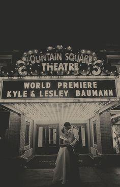 vintage fountain square theatre wedding @Amanda Peclat-Begin