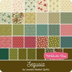 Sequoia Fat Quarter Bundle Reservation Laundry Basket Quilts for Andover Fabrics