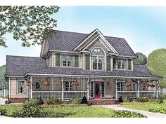 Farmhouse House Plan with 2571 Square Feet and 4 Bedrooms(s) from Dream Home Source | House Plan Code DHSW36511