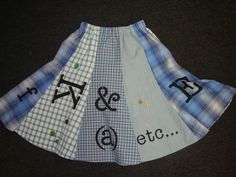 skirt made from mens shirts