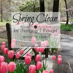 Spring clean by changing 1 thought, word or deed -Dr. Toby Silverton #burnout #theburnoutqueens #highlysensitivewoman #hsp #springclean