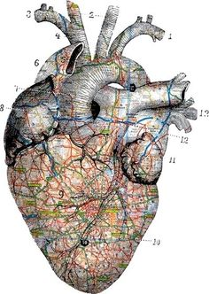 And my heart is a map of all the people I've loved ..