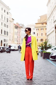 Beautiful color blocking with such great lines