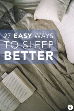Never lie awake in bed again with these sleep tips that are proven to work. #sleep #health #rest #relax http://greatist.com/happiness/27-easy-ways-sleep-better-tonight