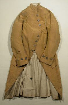 Coat National Trust Inventory Number 1348789.1 Date1780 - 1789 MaterialsLinen, Shot silk, Silk CollectionSnowshill Wade Costume Collection, Gloucestershire (Accredited Museum)