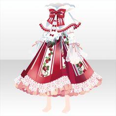 ストロベリー♥ガーデン|@games -アットゲームズ- Other Outfits, Kids Outfits, Cute Outfits, Cosplay Outfits, Anime Outfits, Cute Kawaii Drawings, Anime Dress, Cocoppa Play, Dress Drawing