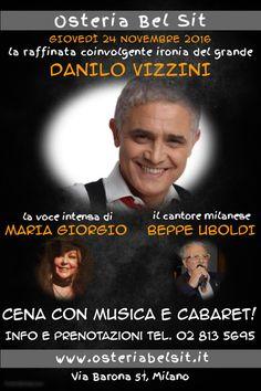 Giovedì 24 novembre 2016 Danilo Vizzini Osteria Bel Sit