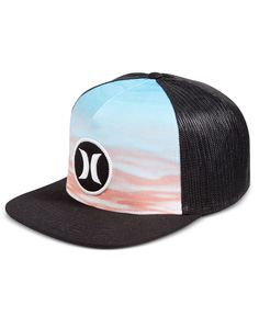 Give your casual accessories a stylish boost with this Block Party Flow hat from Hurley, designed with a snapback closure for a customizable fit and mesh side and back panels to help keep your head co
