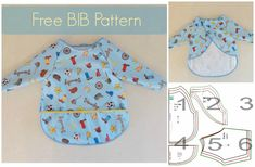 Free Vinyl Full Coverage Bib Sewing Pattern Collage (800x524)