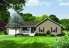 The Norwood - Elevation A; 1312 sqft; 3 br/2 ba - Ranch