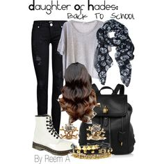 Daughter Of Hades Back To School Outfit, Cabin 13, Percy Jackson Inspired Outfit