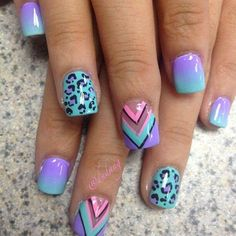Gradient, chevron, and cheetah print perfect combo!