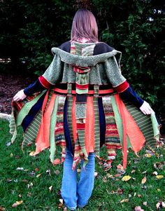 Eco Friendly Recycled Little Elf Coat Small by maisestudio on Etsy, $240.00