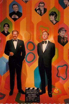 "Dan Rowan and Dick Martin in Laugh-In 4x6"" Postcard Movieland Wax Museum"
