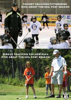 I laughed first. The difference between the post-season in Pittsburgh and Philadelphia. Pittsburgh on ice, Philadelphia on the greens Hockey Rules, Flyers Hockey, Hockey Teams, Ice Hockey, Funny Hockey, Sports Teams, Pittsburgh Sports, Pittsburgh Penguins Hockey, Pens Hockey