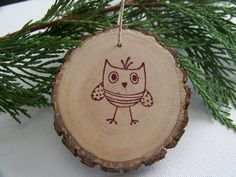 Woodland Owl Ornaments
