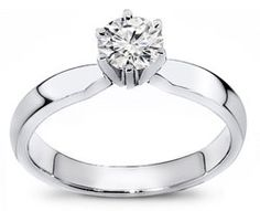 $349.99 USD, This is our marvelous round cut diamond solitaire engagement ring. A simple design, yet very popular. This ring consist of a 0.25ct. round cut diamond in a fine prong setting with an excellent band design.