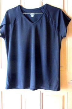 #ebay Reebok Womens Play Dry #Sports #Athletic Shirt Black XL #Reebok #ShirtsTops