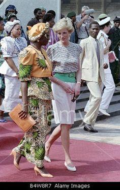 Princess Diana in Nigeria 1990