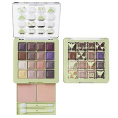 Eye Glow Cube, $28. The perfect all in one kit containing 2 eye base powders, 16 eye shades + 2 duo applicators to enhance any eye shade & amp up your look for the season.