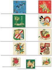 Nostalgic Christmas Gift Tags - Christmas Gift Tag Labels