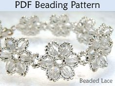Jewelry Beading PDF Patterns, Choker Necklaces, Beaded Flower