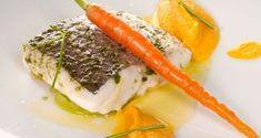 Receta de Pescadilla al vapor con puré de zanahorias al curry
