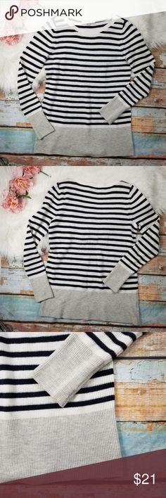 e1ceac2b4b LOFT Cozy Striped Color Block Hem Sweater