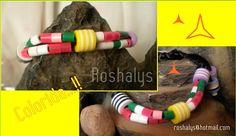 Las Manualidades de Roshalyss: pulsera colorida