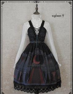 Nightmare -The Moon Observatory- Gothic Lolita JSK - My Lolita Dress
