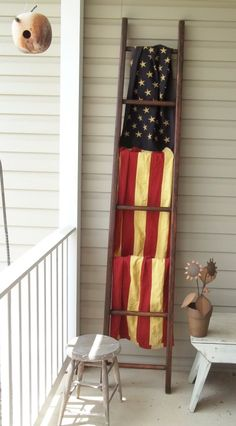Just listed this 7 ft. refinished ladder today on ebay.   Flag also for sale on same site.  Valley-Folks