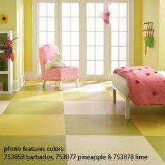 Marmoleum flooring - eco friendly, durable, soft under foot and comes in a variety of colors